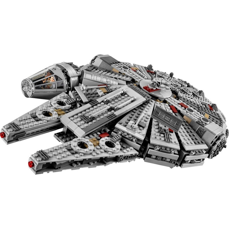 In Stock 1381 Pcs Compatible Lepining Star Wars Millennium <font><b>05007</b></font> Falcon Spacecraft Building Blocks Birthday Gift Toys image