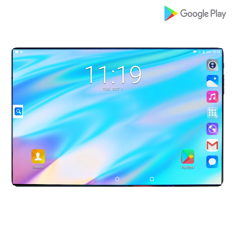 New Arrival 10.1 Inch Tablet PC Android 9.0 Octa Core RAM 6GB ROM 64GB 3G/4g LET Smart Phone Large Screen WiFi Tablets 10+Gift