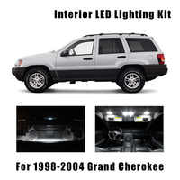 10 Bulbs White LED Car Map Dome Light Interior Kit Fit For 1998-2002 2003 2004 Jeep Grand Cherokee Trunk License Plate Lamp