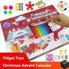 25 Pcs Fidget Advent Calendar Popits Anti Stress Fidget Toy Advent Calender Popeti Toy Bubbles Super Discounts Poppit Kit