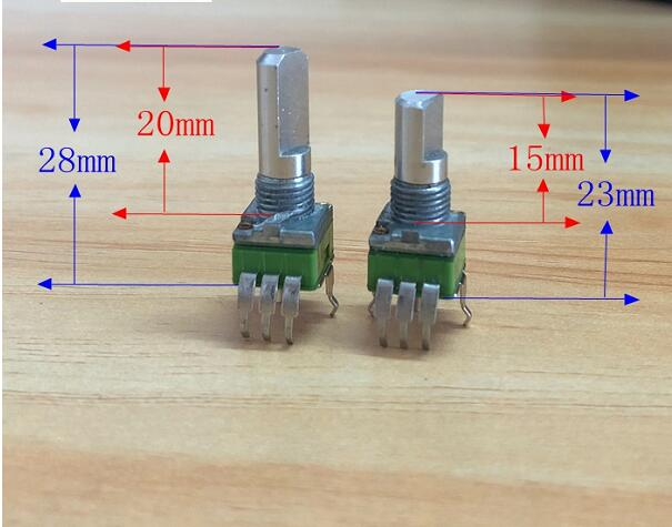 5pcs/lot  Pjiap Switch ALPHA RK09 Precision Potentiometer B10K 50K A10K 50K 250K C100K Single 3 Feet  No Midpoint