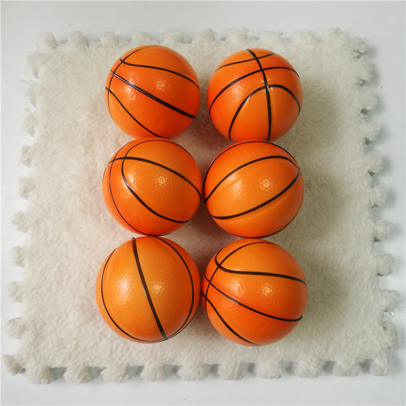 6pcs 6.3cm Funny Basketball Football Anti Stress Relief Ball Soft Foam Rubber Squeeze Balls Toys For Children Kids