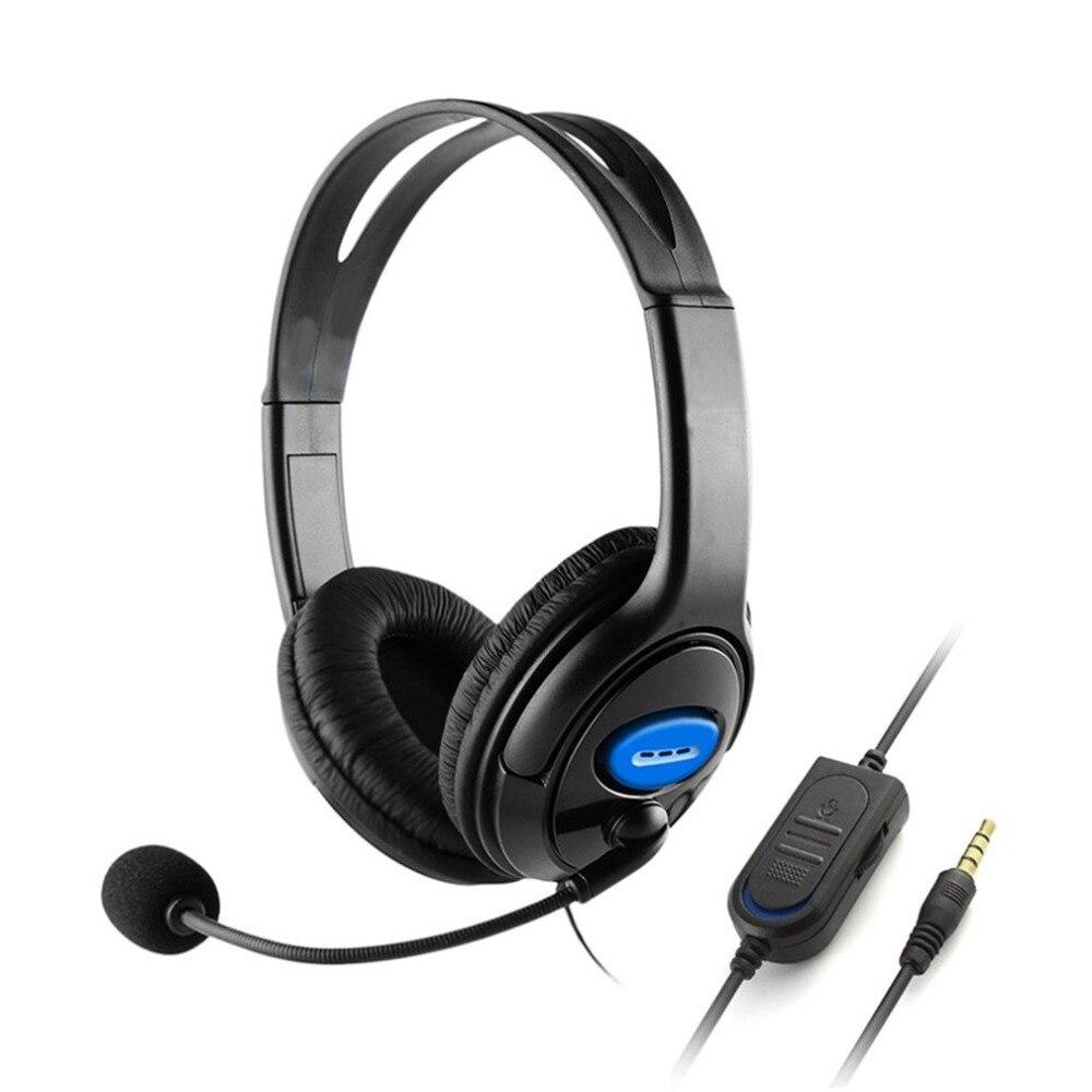 Com fio jogos fones de ouvido com microfone isolamento de ruído 40mm driver baixo estéreo para sony ps3 ps4 computador portátil gamer fone de ouvido