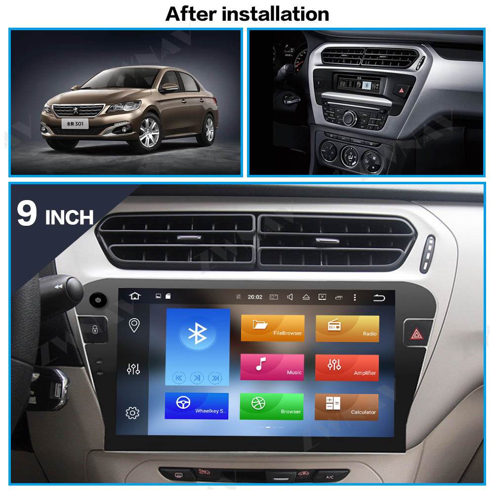 ZWNAV Android 10 4G+64G DSP Car Radio GPS Navigation For Peugeot 301 2013-2016 Car DVD Player Multimedia Tape Recorder Head unit