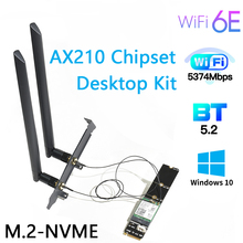 Network-Card Wifi-Adapter Pci Express Intel Ax210 Bluetooth5.2 Nvme NGFF Wireless Slot