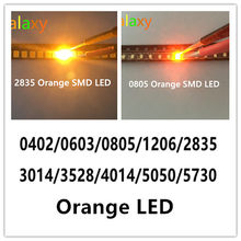 100pcs SMD 0402 0603 0805 2835 3528 1206 5050 5730 Laranja diodo emissor de luz SMD super bright LED Diodo 3V