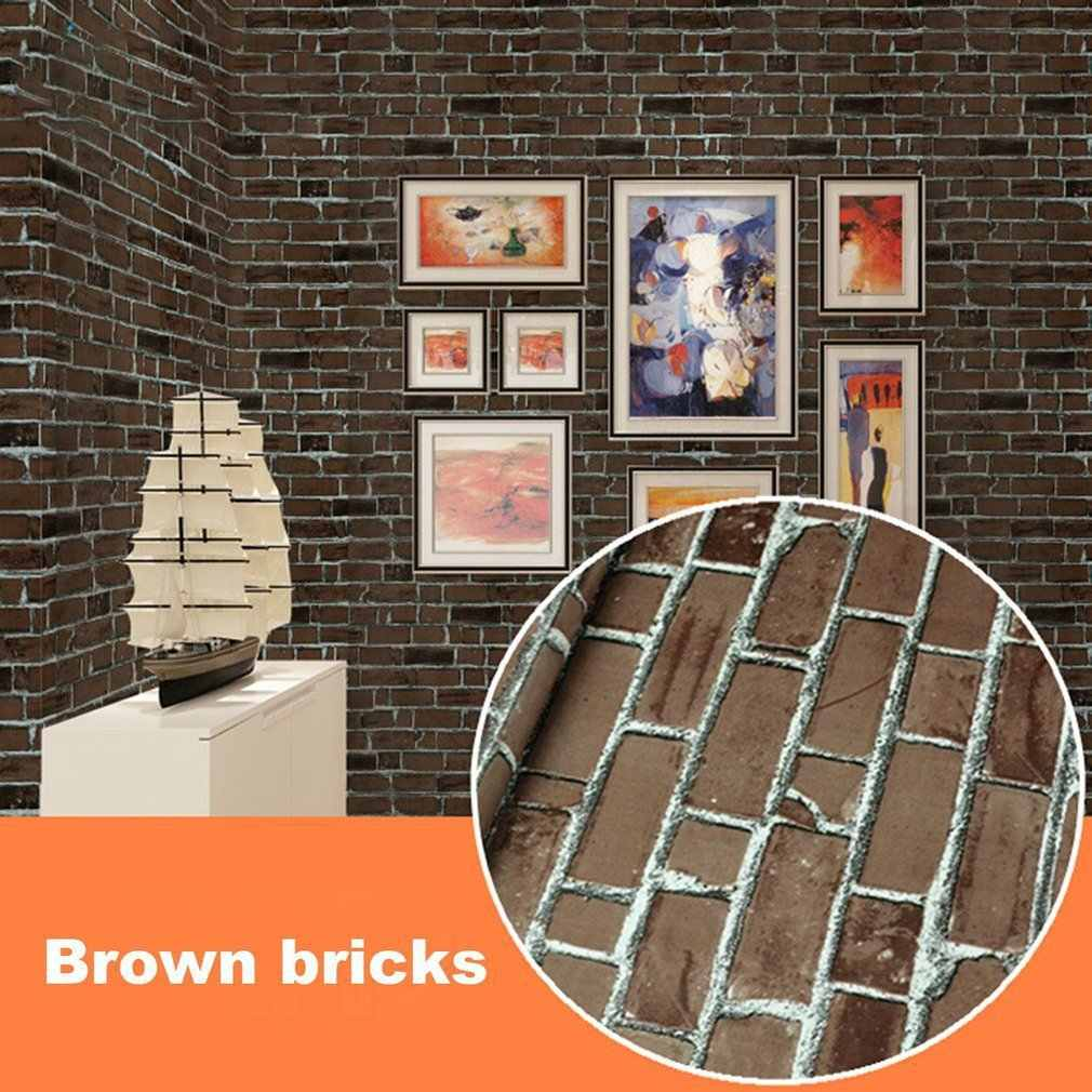 Modern Waterproof Self-adhesive Brick Stone Style 3D Wallpaper For Living Room Background Wall Sticker Parlor Mural Home Decor