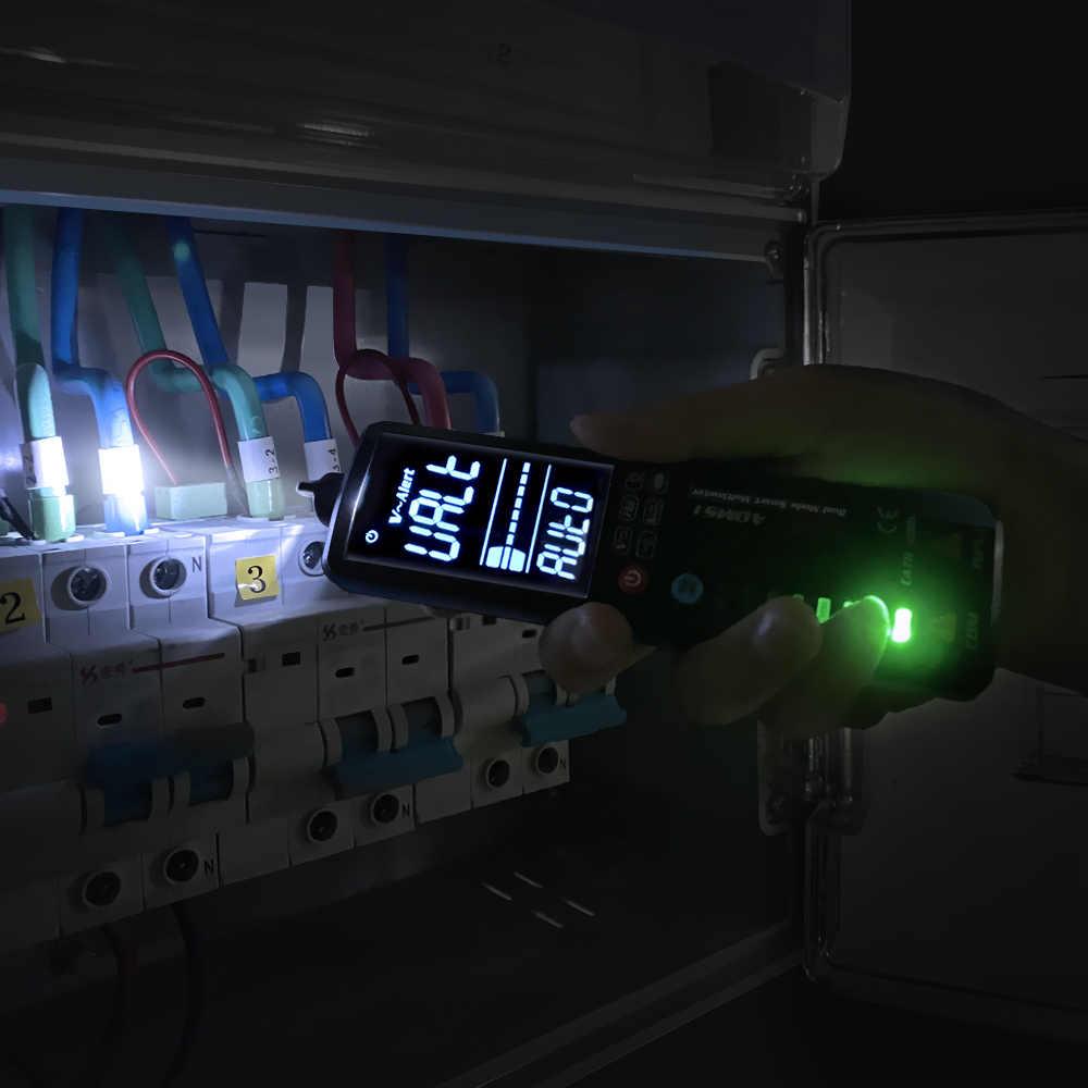 BSIDE 2.4 ''LCD كاشف جهد عدم الاتصال الدائرة فولت تستر القلم الفولتميتر NCV المقبس لايف سلك تحقق هرتز أوم الاستمرارية