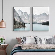 Горный пейзаж туристический постер sicandinavia Картина на холсте