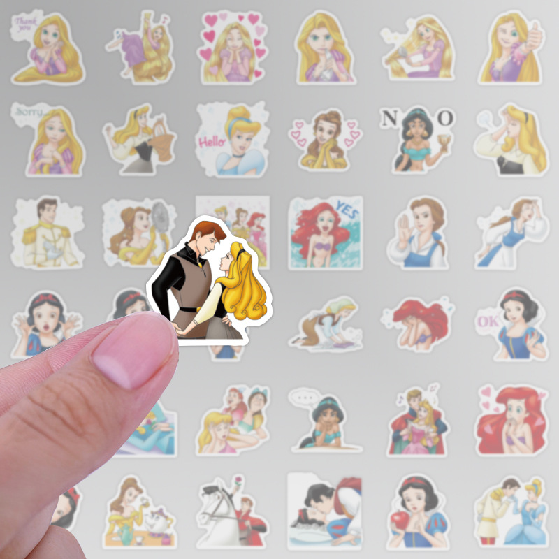 40Pcs Princess Stickers Beautiful Waterproof Sticker For Car Luggage Suitcase Decor Toys For Children Computer Notebook