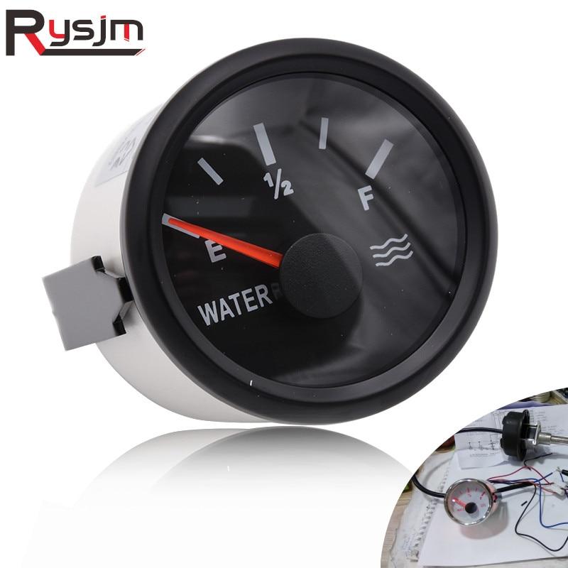 KUS Fuel Level Gauge Meter Indicator 240-33ohm 52MM 2 with Backlight 12V//24V