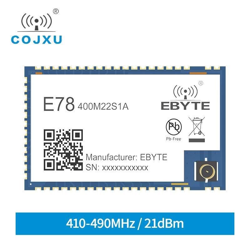 Lora sx1262 asr6505 lorawan módulo 433 mhz soc sx1262 stm8l152 mcu lpwan smd iot E78-400M22S1A transceptor ipex