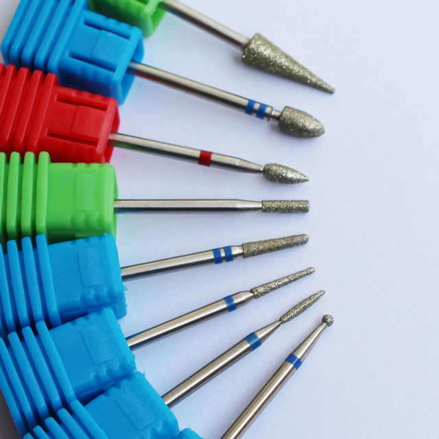 ASWEINA 8 Type Diamond Nail File Drill Bit Burr Milling Cutter Manicure Electric Nail Drill Machine Nail Accessories 2