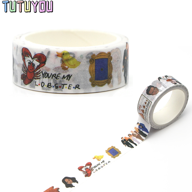 PC277 Friends TV Washi Tapes Scrapbooking DIY Deco Creative Kawaii Masking Tapes