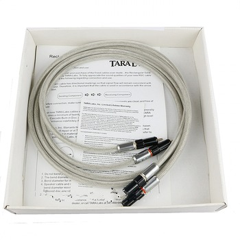 Pair Tara Labs Prime M2 A-OF8N copper braided shield  interconnect cable with RCA plug connector