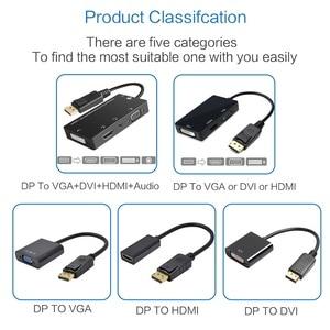 Image 5 - FSU ديسبلايبورت DP ذكر إلى DVI HDMI VGA الصوت شاحن أنثي عرض ميناء محول الكابل للكمبيوتر العارض شاشة التلفاز