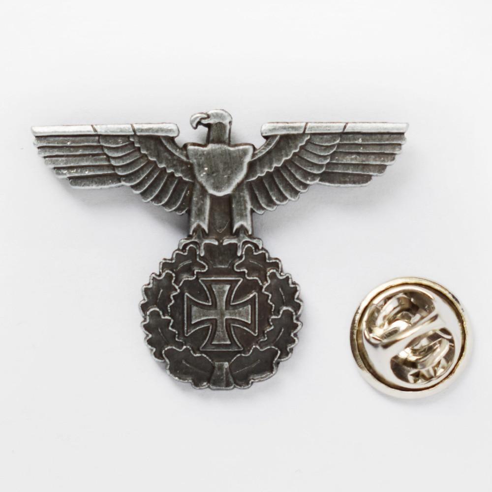 World War II Two WWII German ARMY Eagle Iron Cross Badge PIN-50067
