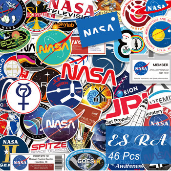 46 шт./компл. наклейки Pegatinas Lugguage набор космонавтов наклейка для комнаты ноутбука Bycle скейтборд кувшин гитара журнал декорат