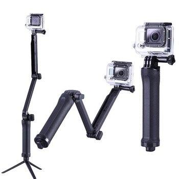 цена на 3 Way Grip Waterproof Monopod Selfie Stick Tripod Stand for GoPro Hero 7 6 5 4 Session for Go Pro Accessory