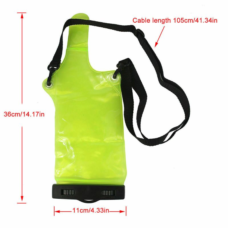 Green Waterproof Transparent Radio Bag Set Case Cover Protector For Walkie X6HB