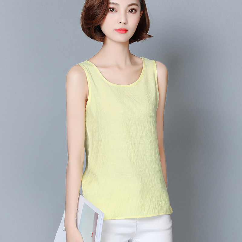 Korean Women Tops Woman Cotton Linen Blouses Tops Plus Size Summer Women Solid Blouse Top Blusas Mujer De Moda 2020 Split Top OL