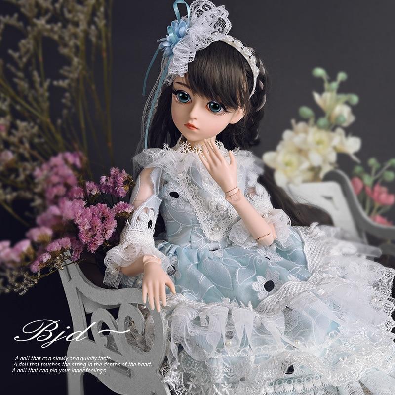 1/3 18 Movable Artificial Joint BJD Dolls 60 CM 18 Inch DIY Princess Dress Headwear Dress up Makeup Dolls For Girls Birthday Toy