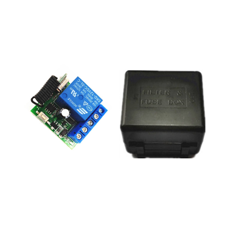 433 Mhz Wireless Remote Control Switch DC 12V 10A 1CH relay 433Mhz Receiver Module For 1527 learning code Transmitter Remote image