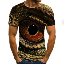 Мужская футболка с коротким рукавом круглым вырезом и 3d принтом