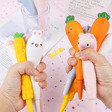 1pc Creative Stationery Student Gel Pen 0.5mm kawaii School Supplies Promotional decompression pens Christmas gift