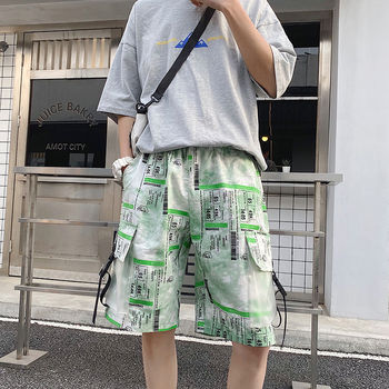 2020 Summer New Youth Popular Mens Loose Large Size Camouflage Printing Pocket Five-point Pants Fashion Casual Shorts