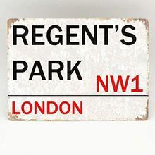 JUCHen Regent'S Par kDesign – panneau métallique en aluminium, affiche imprimée, décoration murale pour coin café/café/cuisine