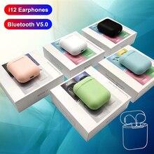 i12 tws Wireless Headphones Bluetooth Earphones 3D Stereo Sound Headset sports c