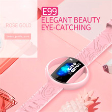 E99 Smart Women Watch Fashion Bracelet Heart Rate Blood Pressure Monitor Waterproof IP67 Smartwatch for Xiaomi Mi Band 4 3