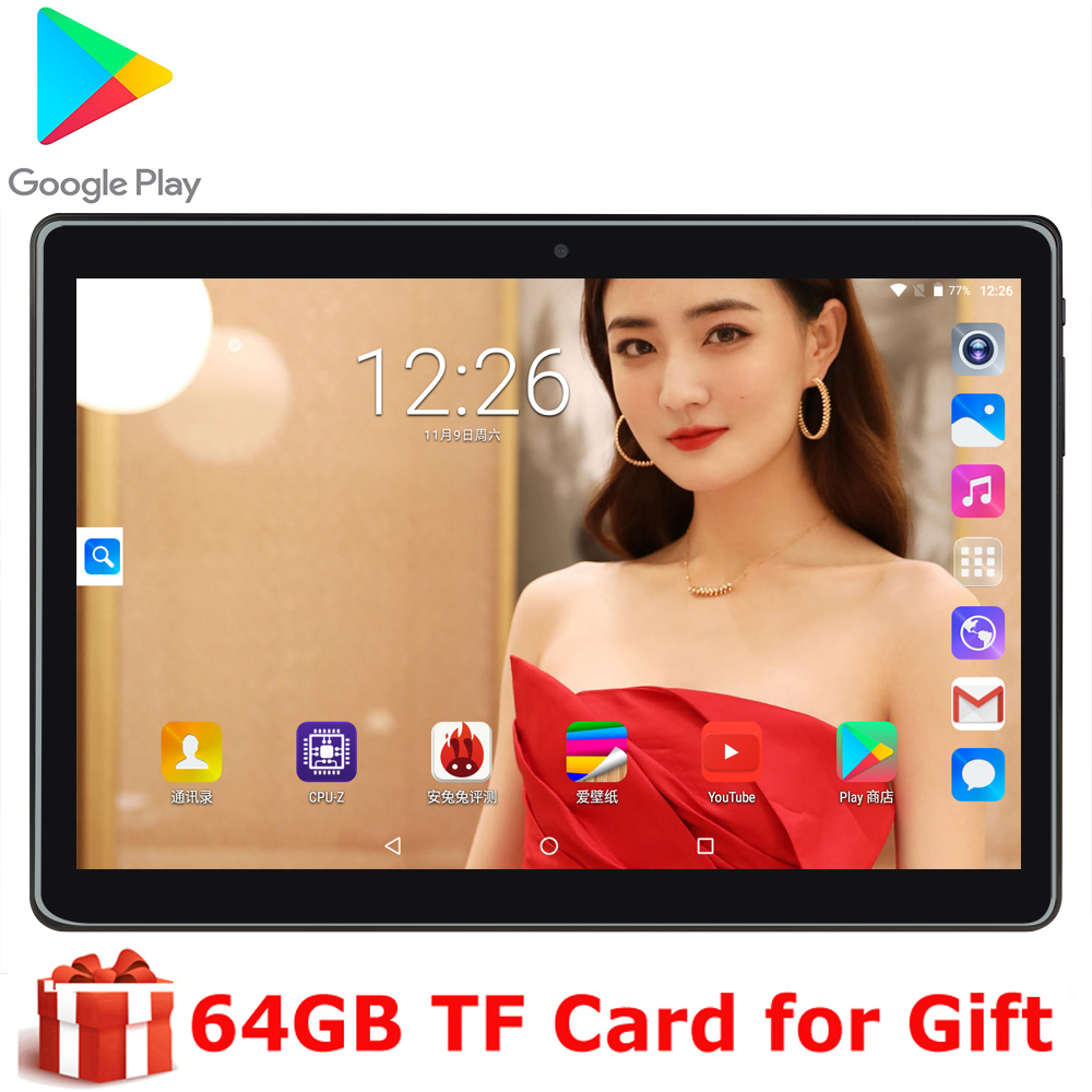 2020 NEW BOBARRY T100 10 Inch Tablet Pc Android 9.0 OS Dual SIM Card Phone 1280*800 Ips WIFI GPS CE 2.5D Tempered Glass Screen
