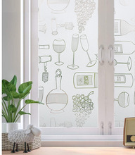 LUCKYYJ Frosted Decorative Window Film Privacy Glass Film Anti-UV Removable Static Cling Self-adhesive Window Glass Sticker luckyyj privacy glass film static cling window film self adhesive window sticker anti uv opaque decoration for home living room