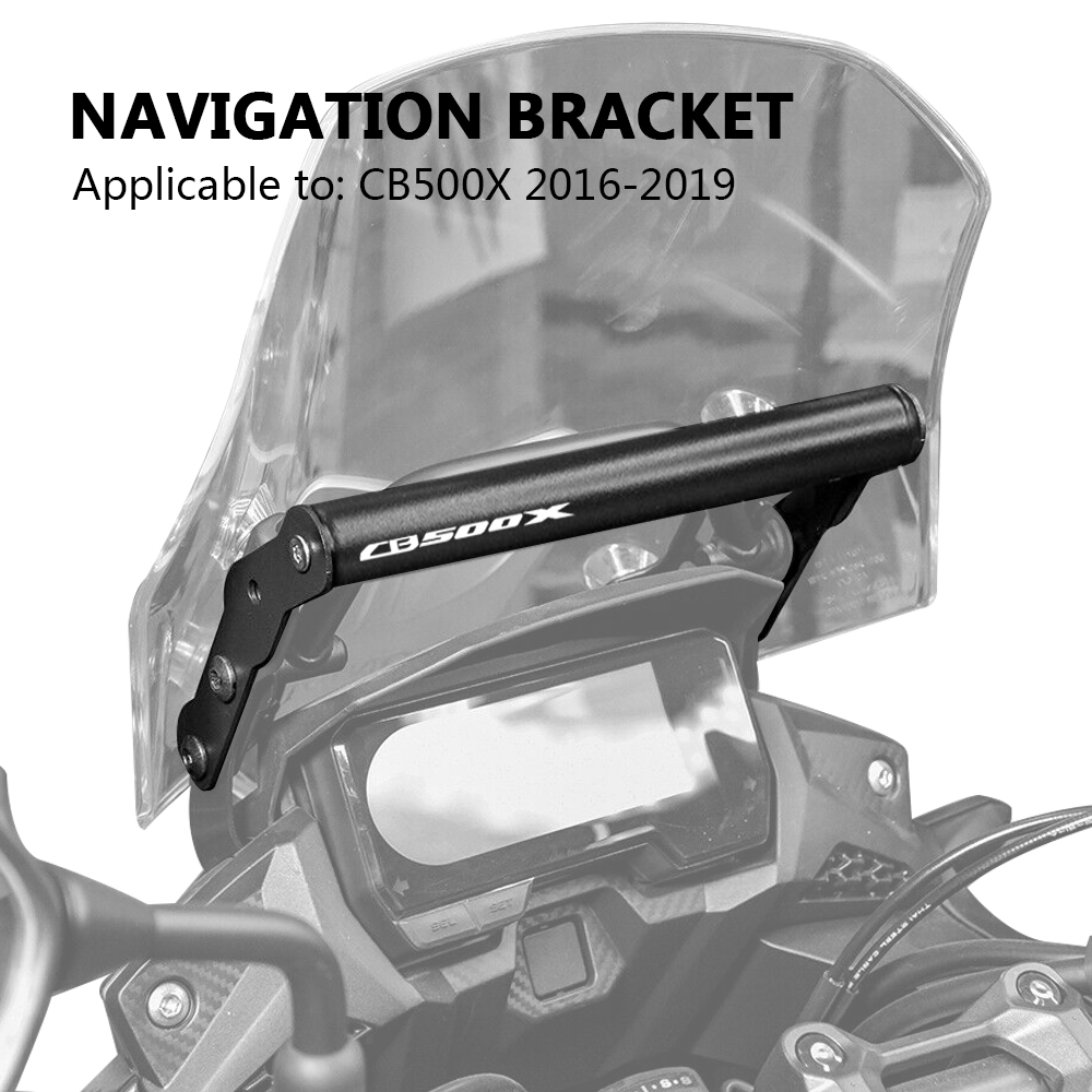 Motorcycle GPS/SMART PHONE Navigation GPS Plate Bracket Adapt Holder Black For Honda CB 500X <font><b>CB500X</b></font> 2016 2017 <font><b>2018</b></font> 2019 image