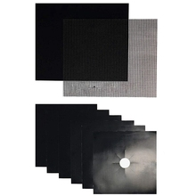 Stove Burner Covers 6 Pcs+ Oven Liner(Grill Mat)+ Grill Mesh Mat | Non-Stick Premium Heavy Duty |Reusable|Dishwasher Safe|Siz