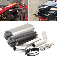 For 2004 2007 Honda CBR1000RR Exhaust Pipe Motorcycle 2 Mid Pipe Slip On 51 mm Exhaust Pipe No DB Killer Escape Under Seat Tips