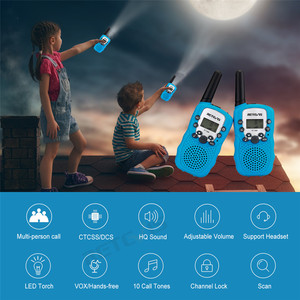 Image 4 - Портативная рация RETEVIS RT388, Детские рации, 2 шт., мини двухсторонняя радиостанция PMR, Рождественский подарок/для семейного использования/кемпинга, 100 800 м