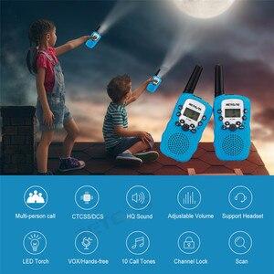Image 4 - RETEVIS RT388 Walkie Talkie çocuklar telsiz 2 adet Mini İki yönlü radyo istasyonu PMR noel hediyesi/aile kullanımı/kamp 100 800M