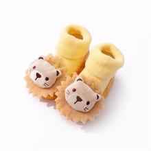 Baby Footwear With PU Soles Infant Toddler for Newborn Baby Girls Boys Autumn Winter Children Floor Socks Shoes Anti Slip Sock