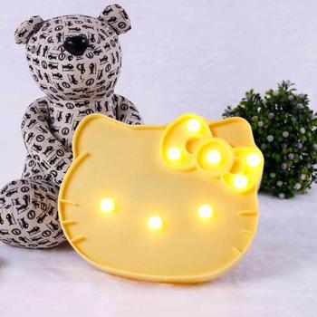 Lampa modelująca Led kreatywna kreskówka Hello KitI lampa modelująca cat party dekoracyjna lampka nocna tanie i dobre opinie CCTWINKLE Night Light Zwierząt CN (pochodzenie) Z tworzywa sztucznego Żarówki led Przełącznik 0-5 w