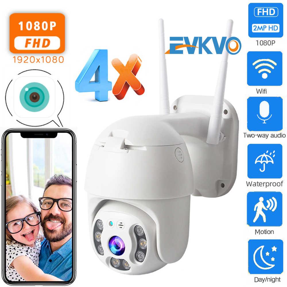 Evkvo 1080P Security Camera Wifi Outdoor Ptz Speed Dome Wireless Ip Camera Cctv Pan Tilt 4X Zoom Ir Netwerk surveillance P2P Cam