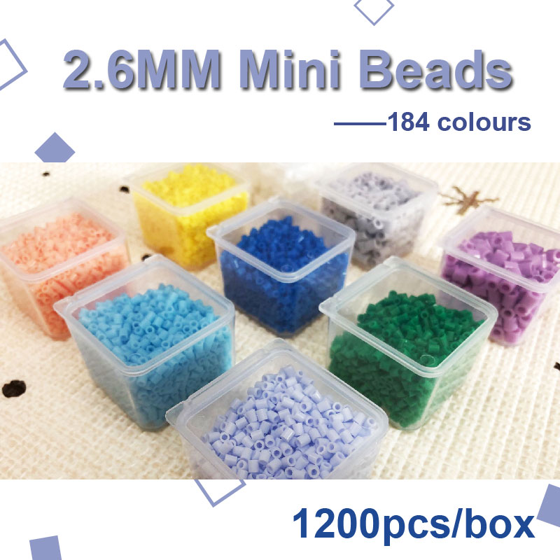 225colours #M Yantjouet 2.6mm Mini Beads 1200pcs/box Hama Beads Perler Beads Easy To Store For Kids Iron Beads High Quality