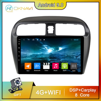 OKNAVI 4G+64G Android Car Multimedia Video Player For Mitsubishi Mirage Attrage 2012-2018 Navigation GPS Stereo 2 din 9 Radio image