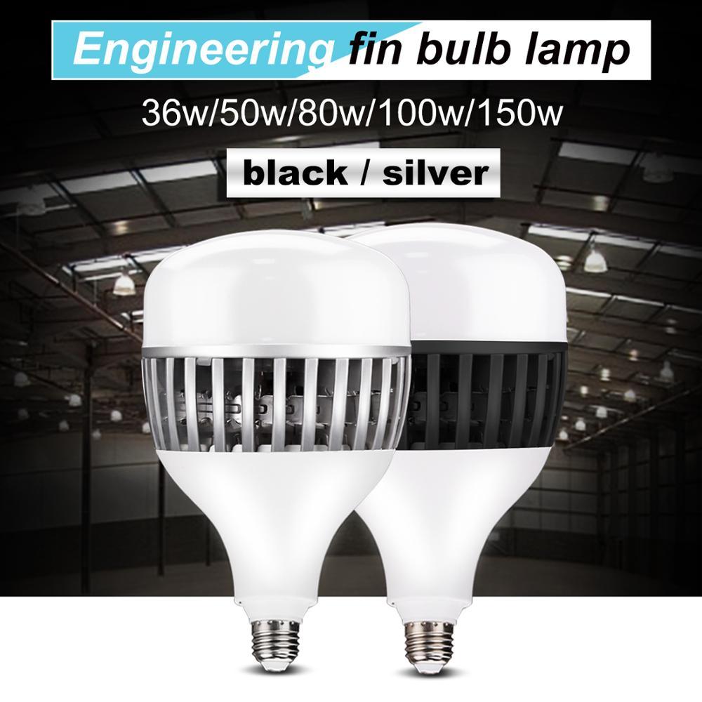 Bombilla 220V 6500K 36W 50W 80W 100W 150W LED luz blanca de alta potencia E27 interfaz de tornillo interior y exterior full power led E27 Bombilla halógena GU10, 20W, 35W, 50W, Bombilla de gran brillo, 2800K, luces de cristal transparente de alta eficiencia, bombillas de luz blanca cálida para el hogar