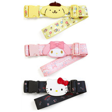 Cute Cartoon PomPom Purin My Melody Luggage Strap Stretch Suitcase Belt Leather Baggage Luggage Tag Name Tags Travel Accessories