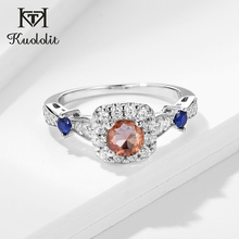 Kuololit zultanite Gemstone Ring for Women Solid 925 Sterling Silver Jewelry diaspore Halfsize Ring for Wedding Fine Jewelry