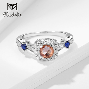 Image 1 - Kuololit zultanite Gemstone Ring for Women Solid 925 Sterling Silver Jewelry diaspore Halfsize Ring for Wedding Fine Jewelry
