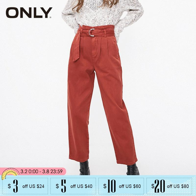 ONLY Winter Womens  Straight Fit High-rise Jeans Pants |119132513